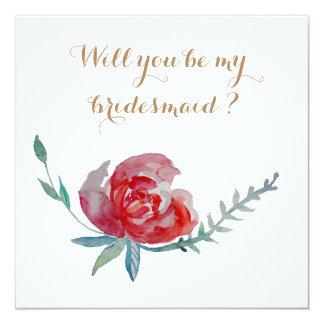 Zult u mijn bruidsmeisjekaart zijn kaart
