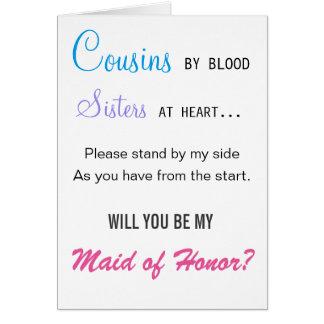 Zult u mijn Eerste bruidsmeisje - neef zijn Briefkaarten 0