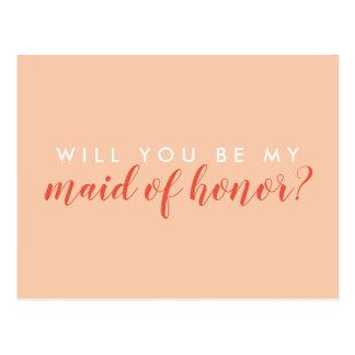 Zult u Mijn Eerste bruidsmeisje zijn? Kaart