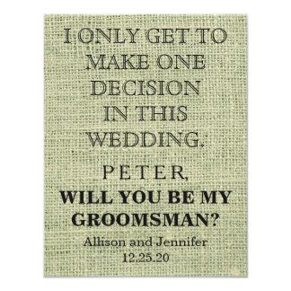 Zult u mijn Groomsman zijn? Gepersonaliseerd Kaart