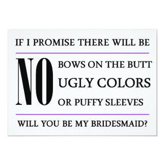 Zult u Mijn Kaart van het Bruidsmeisje zijn