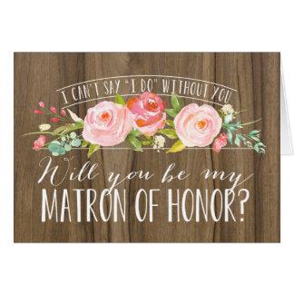 Zult u Mijn Matron van het Bruidsmeisje van Honor| Briefkaarten 0