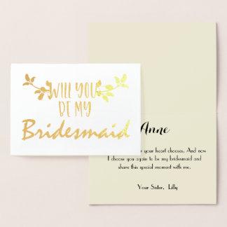 Zult u mijn Uitnodiging van het Bruidsmeisje -