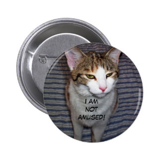 zure puss, ben ik niet geamuseerd! ronde button 5,7 cm