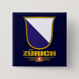 Zürich Vierkante Button 5,1 Cm