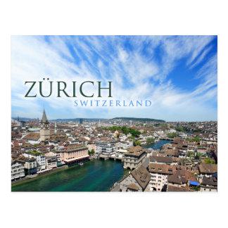 Zürich Zwitserland Briefkaart