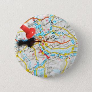 Zürich, Zwitserland Ronde Button 5,7 Cm