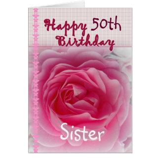 ZUSTER - Gelukkige 50ste - 59ste Verjaardag - het Kaart