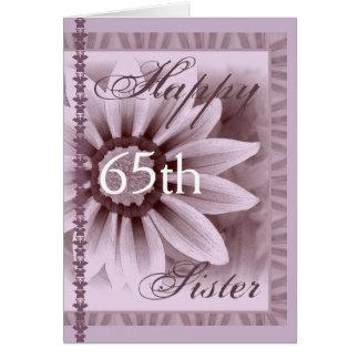 ZUSTER - Gelukkige 65ste Verjaardag - LAVENDEL Briefkaarten 0