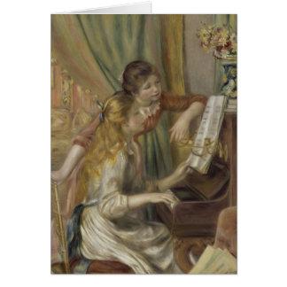 Zusters die de Piano spelen Kaart