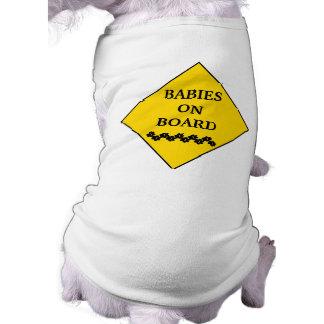 Zwanger hond-Voorzichtigheid Teken Mouwloos Hondenshirt