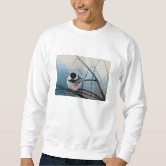 Zwart Afgedekt Volwassen Sweatshirt Chickadee