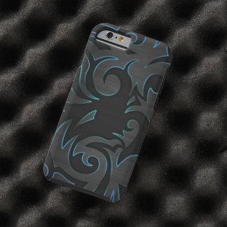 zwart blauw wervelings vectorart. tough iPhone 6 case