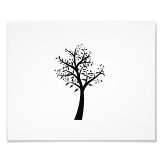 zwart boom eenvoudig ontwerp eco.png foto afdrukken