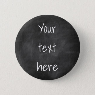Zwart Bord - Uw tekst - de Knoop van de Douane Ronde Button 5,7 Cm