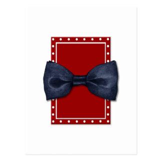 Zwart Briefkaart Bowtie