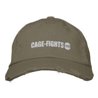 Zwart Cage-Fights.com Pet Geborduurde Pet