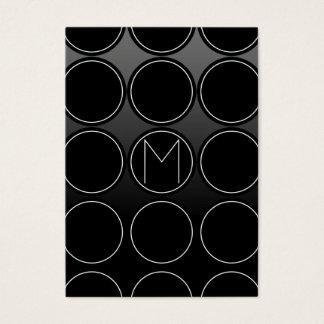 Zwart Cirkels en Monogram Visitekaartjes