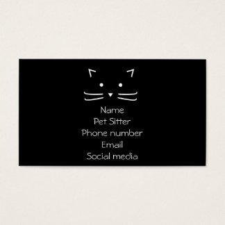 zwart de katten eenvoudig visitekaartje van de visitekaartjes