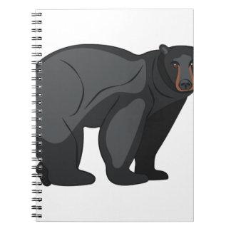 Zwart draag ringband notitieboek