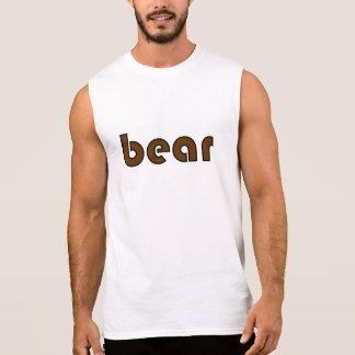 """Zwart en Bruin """"draag"""" Sleeveless T T Shirt"""