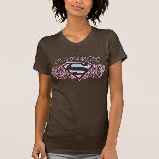 Zwart en de Roze Stroken van de Speld van T Shirt