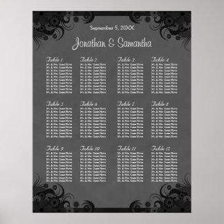 Zwart en Grijs Huwelijk 12 van de Gothic de Poster