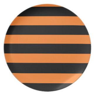 Zwart en Oranje Gestreept Bord