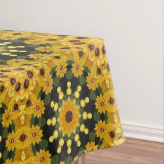 Zwart-eyed Susans 02.2, Bloemen mandala-stijl Tafelkleed