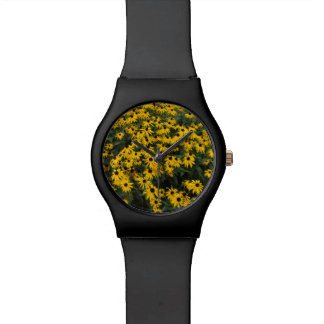 Zwart-Eyed Susans Horloge