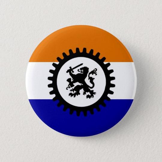 Zwart Front Oranje Wit Blauw Ronde Button 5,7 Cm
