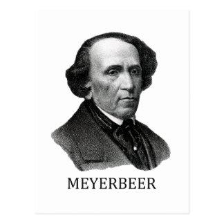 Zwart Giacomo Meyerbeer, Briefkaart