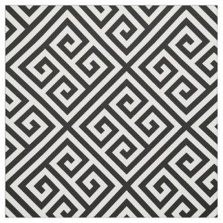 Zwart Grieks Zeer belangrijk Patroon Stof