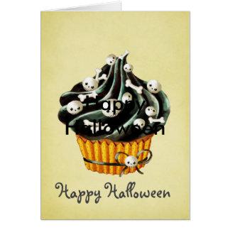 Zwart Halloween Cupcake Briefkaarten 0