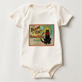 Zwart het Vertellen van het Fortuin van de Kat Baby Shirt