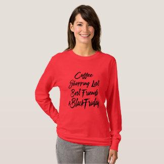 Zwart het Winkelen van de Vrijdag Overhemd T Shirt