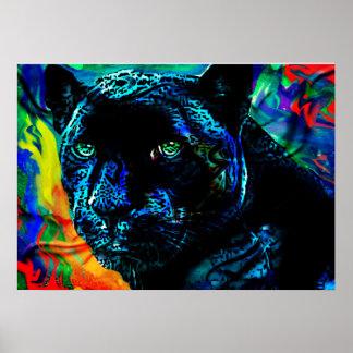 Zwart Jaguar Poster