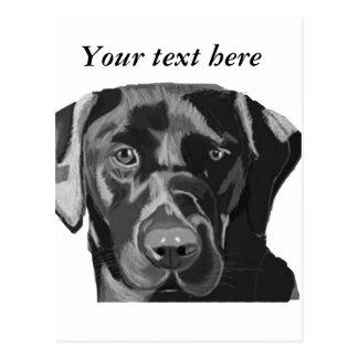 Zwart Labrador Briefkaart