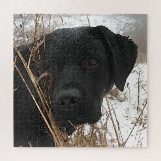 Zwart Labrador - de Jacht Van laat op het seizoen Puzzel