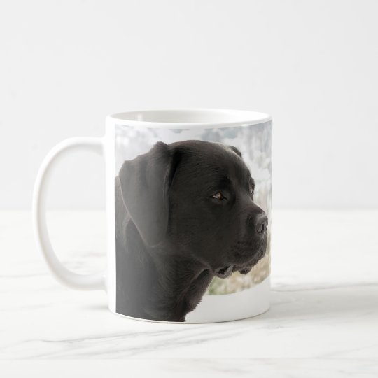 Zwart Labrador - het Staren Uitzichten Koffiemok