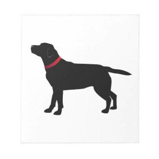 Zwart Labrador met Rode Kraag Notitieblok