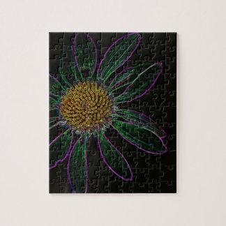 Zwart Licht Neon Flower power Puzzel