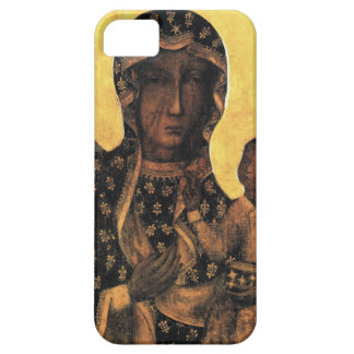 Zwart Madonna Polen Onze Dame van druk Czestochowa Barely There iPhone 5 Hoesje