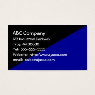 Zwart & Marineblauwe Visitekaartje het Voor alle Visitekaartjes