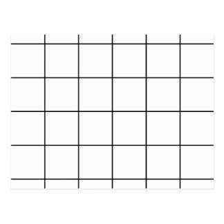 zwart net,    witte achtergrond briefkaart
