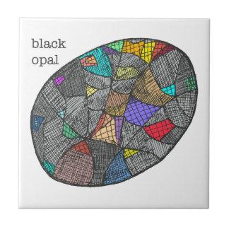 Zwart Opaal Tegeltje
