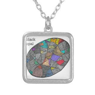 Zwart Opaal Zilver Vergulden Ketting