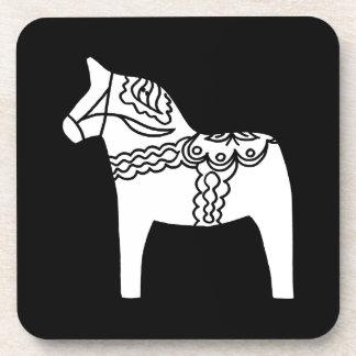 Zwart Paard Dala Drankjes Onderzetter