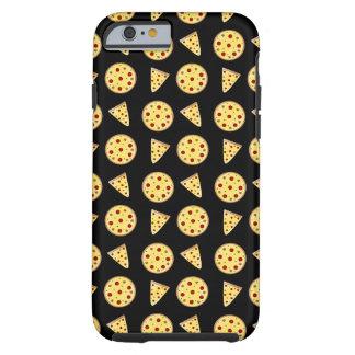 Zwart pizzapatroon tough iPhone 6 hoesje