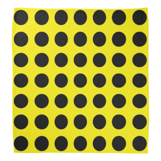 Zwart Stip op Gele Bandana